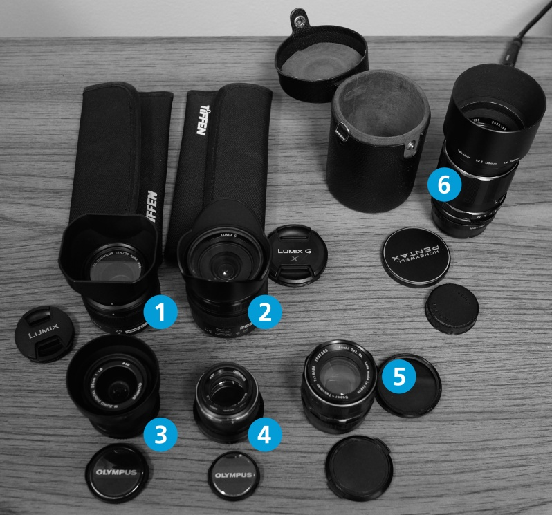 The DOHS lens library for Micro 4/3 mount