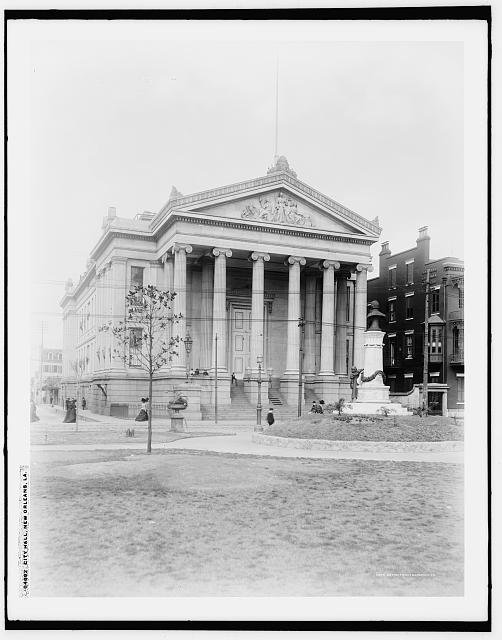 City Hall from Library of Congress: Detroit Publishing Company