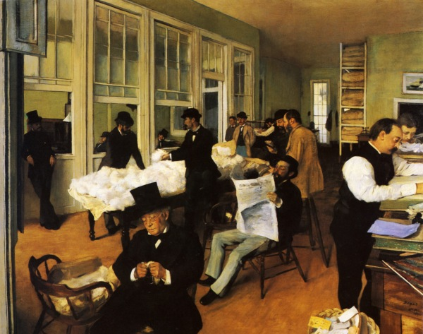 Edgar Degas' A Cotton Office in New Orleans